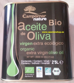 Oil of Olives virgin extra bio 2,5 l