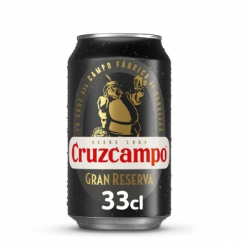 Beer Cruzcampo, gran reserva,  80 x 0,33l cans, only 1x