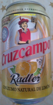 Beer Cruzcampo Radler, 80 x 0,33l cans, only 1x