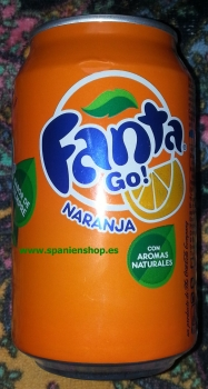 24 tins Fanta, org. with orange  0,33l tin -