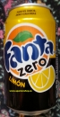 Fanta, org. with lemon, without sugar  0,33l tin